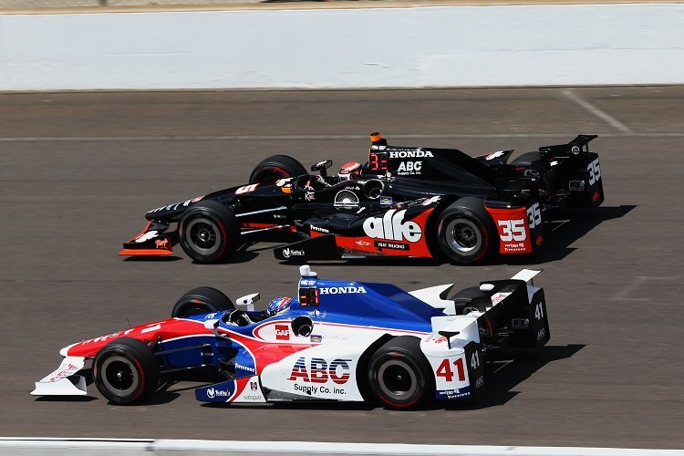 Jack Hawksworth (41) and Alex Tagliani (35) - Credit: Chris Jones / IndyCar