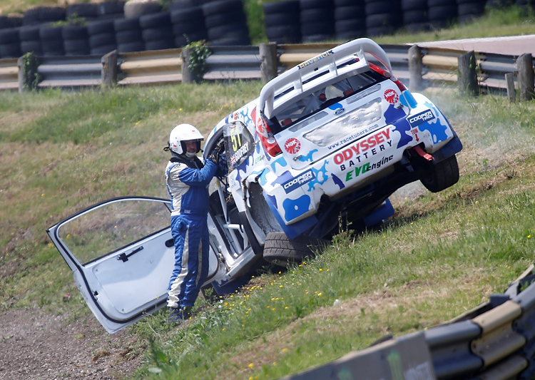 Godfrey was lucky to escape without injury after rolling his Fiesta - Credit:  RubberDuckDoes.com / Matt Bristow
