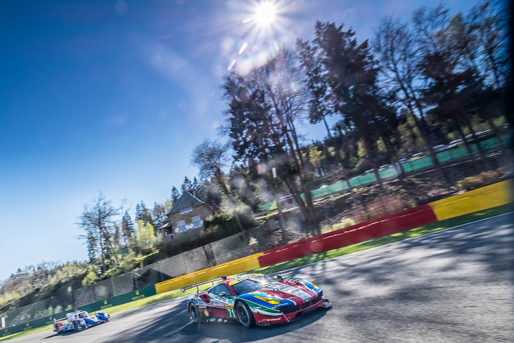 Car # 71 / AF CORSE / ITA / Ferrari 488 GTE / Davide Rigon (ITA) / Sam Bird (GBR) - WEC 6 Hours of Spa - Circuit de Spa-Francorchamps - Spa - Belgium