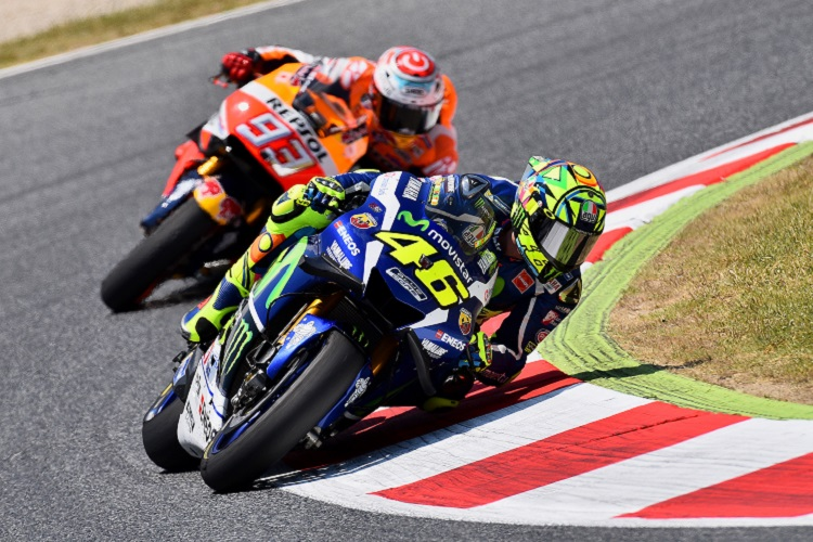 Rossi Holds Off Marquez in Catalunya Classic - The Checkered Flag