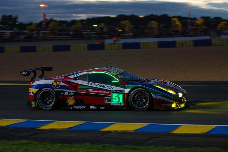 The AF Corse GTE Pro effot ended with a double retirement in the darkness. (Credit: Craig Robertson/SpeedChills.com)