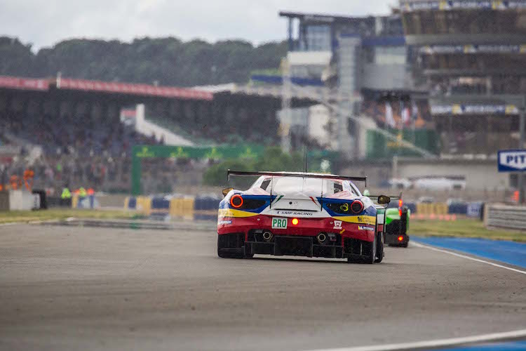 The AF Corse Ferrari finished first in GTE Pro (Credit: Craig Robertson/SpeedChills.com)