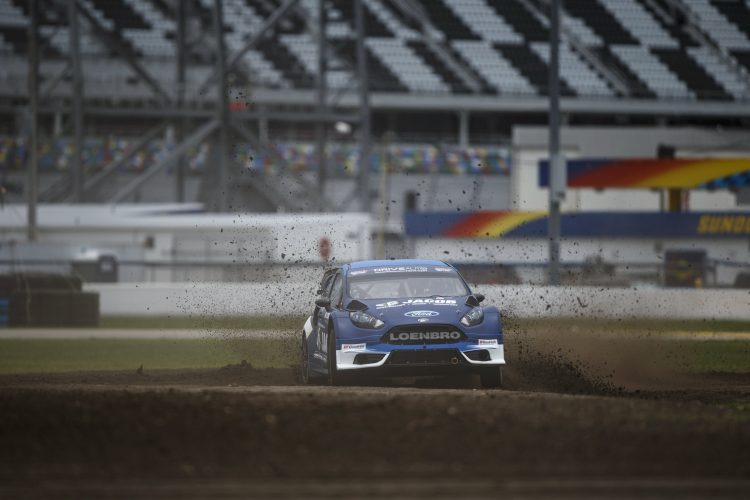 Arpin's maiden win at Daytona was also Ganassi's first Red BulL GRC triumph - Credit: Louis Yio/Red Bull Global Rallycross