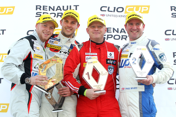 Coates (Far Left) Has Joined Some Experienced Names On The Clio Podium - Credit: Jakob Ebrey Photography