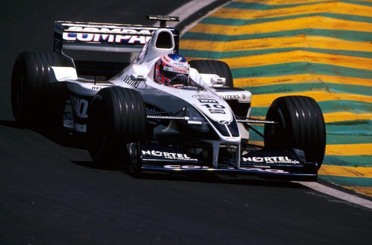 Jenson Button (GBR) Williams FW22 finished sixth in only his second Grand Prix. Brazilian Grand Prix, Interlagos , 26 March 2000. Credit: Williams Martini Racing