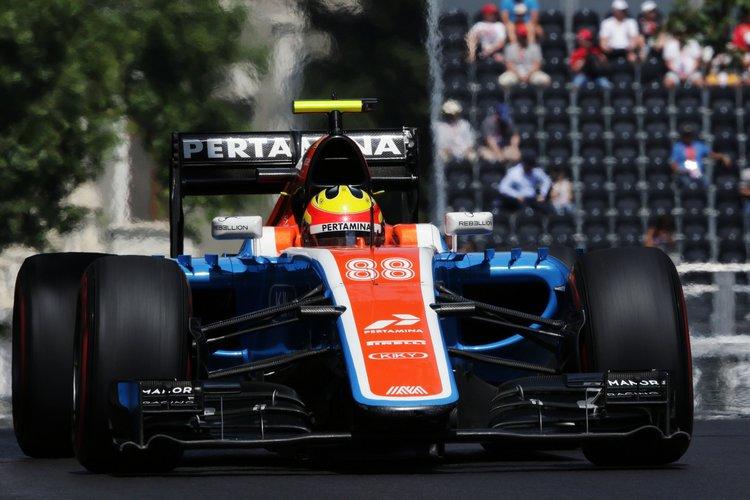 Rio Haryanto (IDN) Manor Racing MRT05. 18.06.2016. Formula 1 World Championship, Rd 8, European Grand Prix, Baku Street Circuit, Azerbaijan, Qualifying Day Credit: Manor Racng