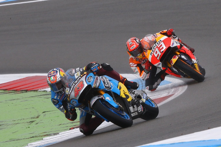 Marquez follows eventual winner Jack Miller (Photo Credit: Estrella Galicia 0,0 Marc VDS