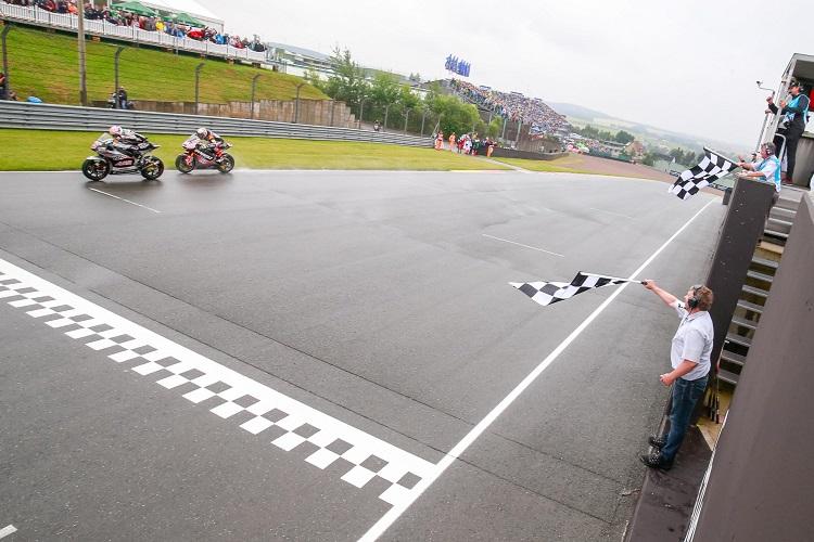 Zarco beats Folger on the line (Photo Credit: MotoGP.com)