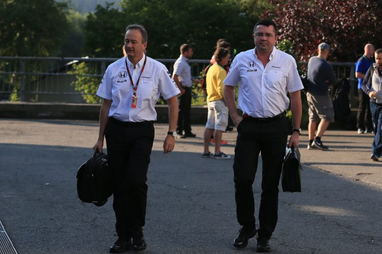 Eric Boullier and Johnathan Neale - Credit: Octane Photographic Ltd