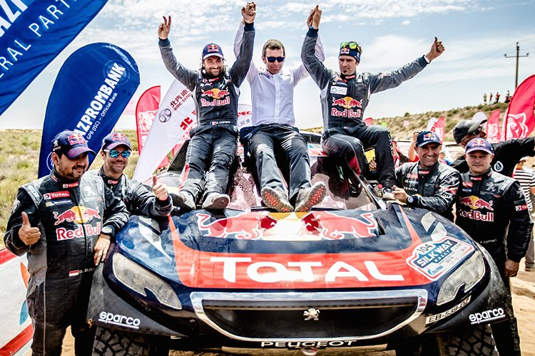 2016 Silk Way Rally Team Peugeot-Total Cyril Despres and David Castera