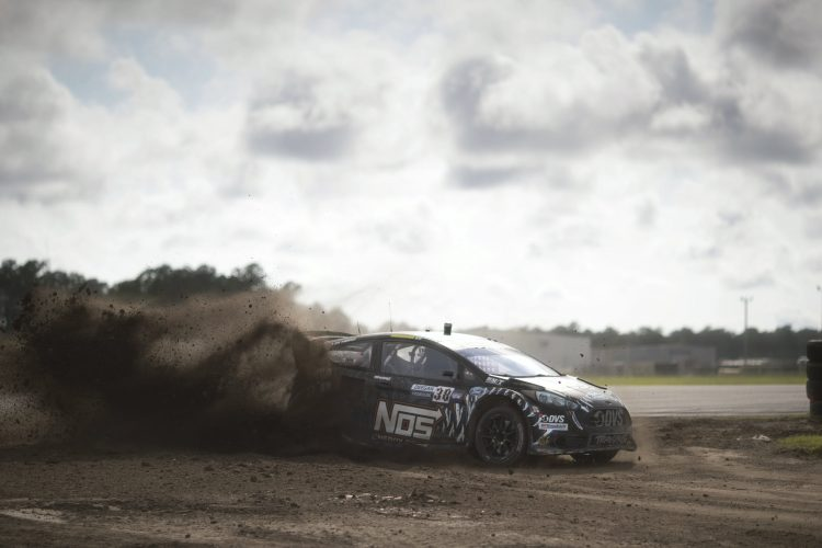 Brian Deegan lost the win on the very last turn of the race - Credit: Larry Chen/Red Bull Global Rallycross
