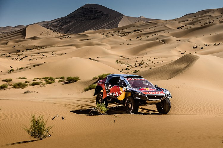Cyril Despres David Castera Team Peugeot-Total 2016 Silk Way Rally Leg 13 Dunes