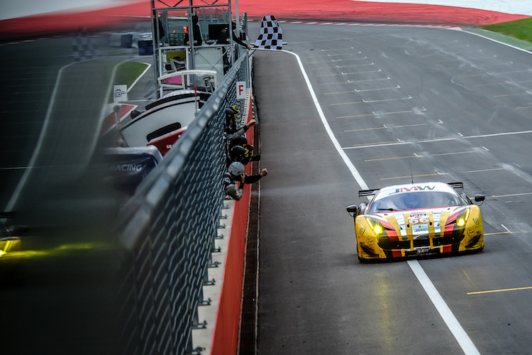 JMW fought back from an early incident to claim LMGTE victory (Credit: AdrenalMedia.com)