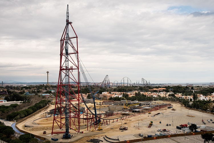 The Vertical Accelerator will be the highest & fastest accelerator ride in Europe (Credit: PortAventura World)