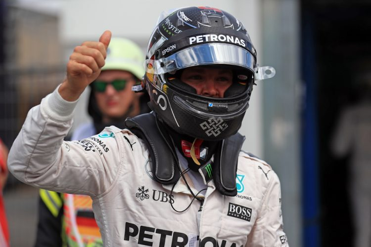 Nico Rosberg takes a brilliant pole in Germany