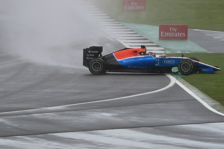 Pascal Wehrlein spins out of the British GP - Credit: Octane Photographic Ltd