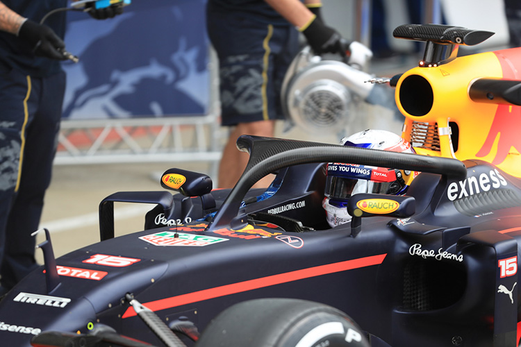 Red Bull Racing testing the Halo system - Credit: Octane Photographic Ltd
