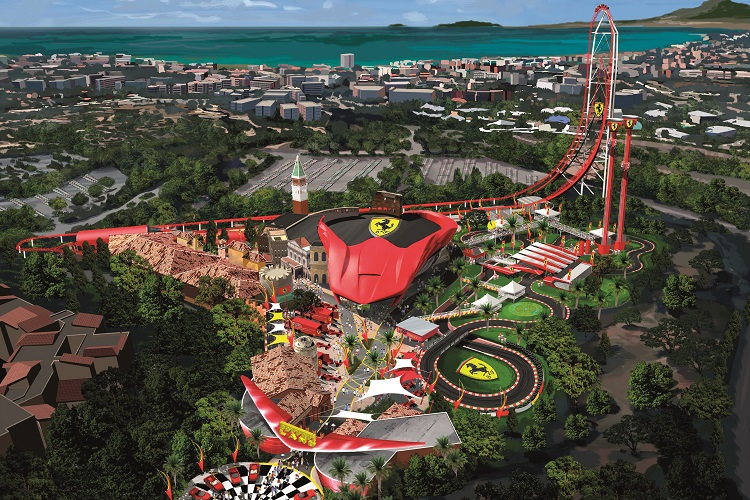 Ferrari World Map.Ferrari Land To Bring Extra Excitement To Portaventura World The