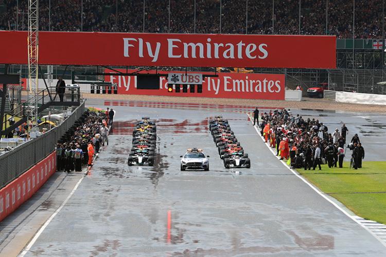 2016 British Grand Prix - Start - Credit: Octane Photographic Ltd