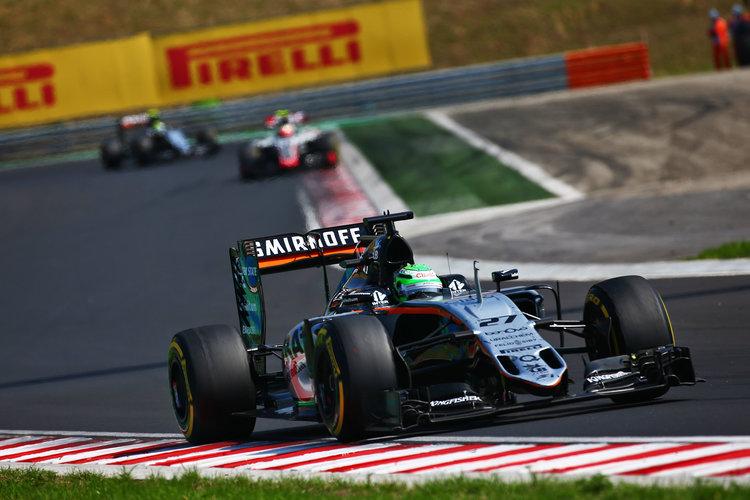 Nico Hulkenberg (GER) Sahara Force India F1 VJM09. Credit: Sahara Force India Hungarian Grand Prix, Sunday 24th July 2016. Budapest, Hungary.
