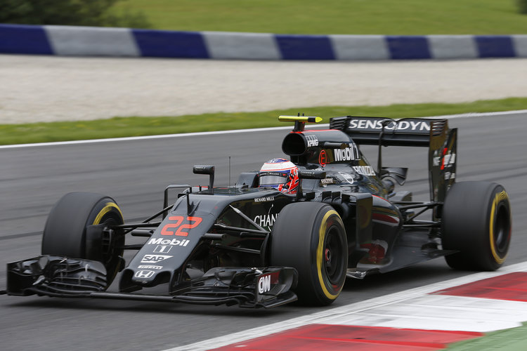 Jenson Button on track. Credit: McLaren Media Centre