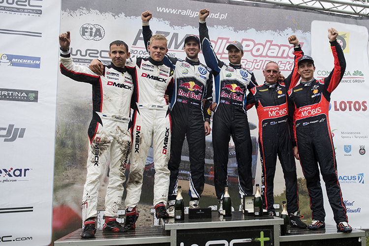 WRC Rally Poland 2016 Podium