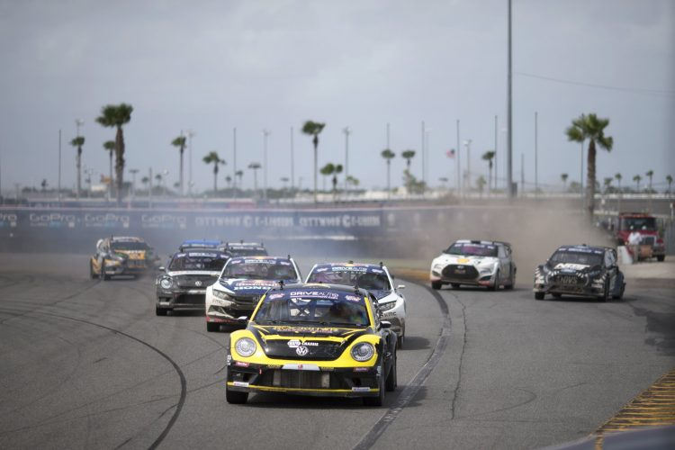 Championship leader Tanner Foust won last time out in Daytona - Credit: Louis Yio/Red Bull Global Rallycross