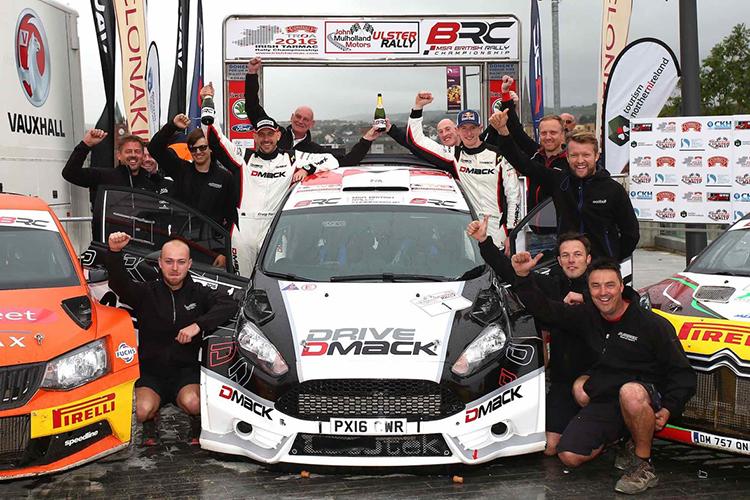 2016 Ulster Rally Elfyn Evans BRC Champion