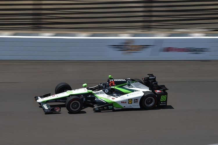 Bryan Clauson racing in the 100th Indy 500 - Credit: Chris Owens  / IndyCar