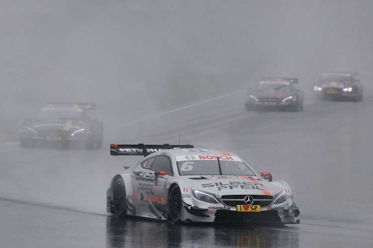 Robert Wickens, winner and new DTM leader. Credit: Daimler Media