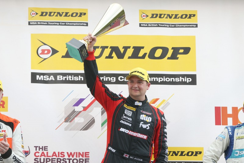 BACK ON FORM: Jackson won at Snetterton