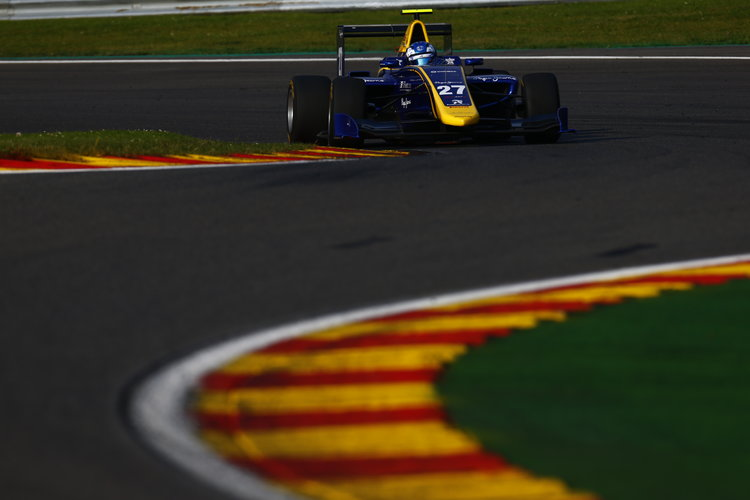 2016 GP3 Series Round 6.  Spa-Francorchamps, Spa, Belgium. Friday 26 August 2016. Jake Hughes (GBR, DAMS)  Photo: Zak Mauger/GP3 Series Media Service. ref: Digital Image _L0U0302