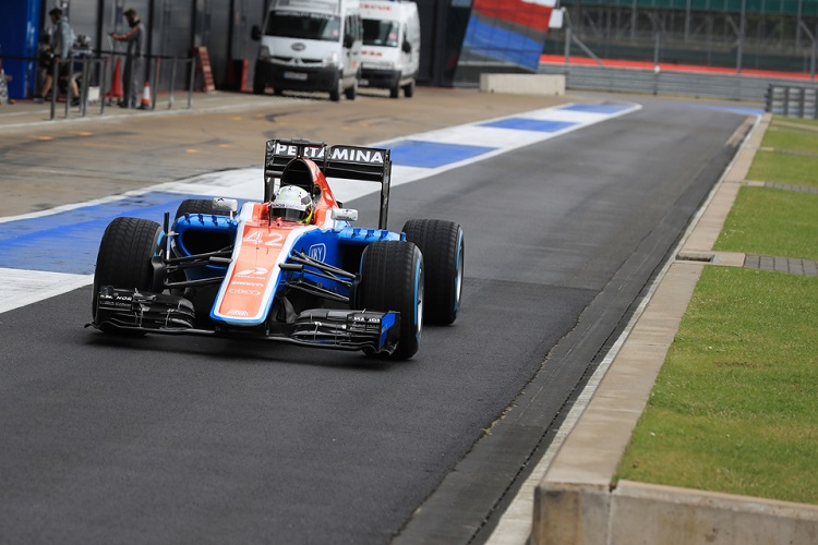 Jordan King tested with Manor at Silverstone earlier this season - Credit: Octane Photographic Ltd