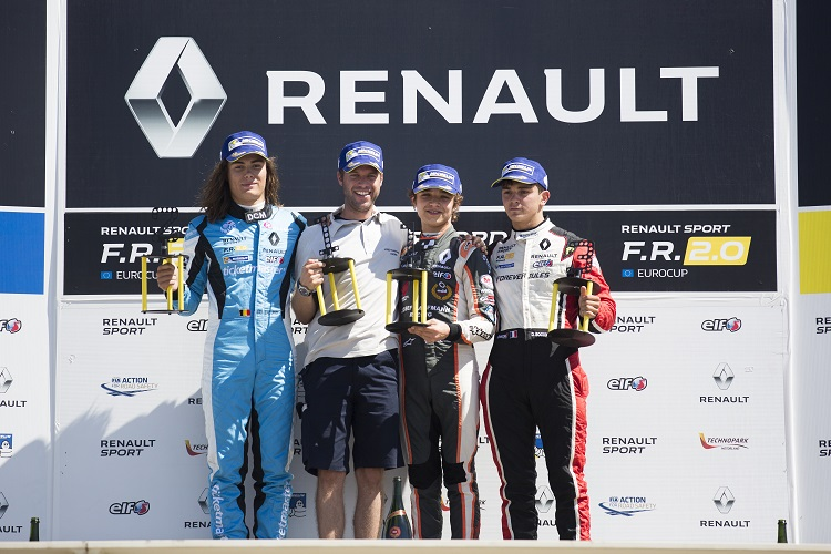 Race 2 podium at Paul Ricard - Credit: Antonin Grenier / DPPI