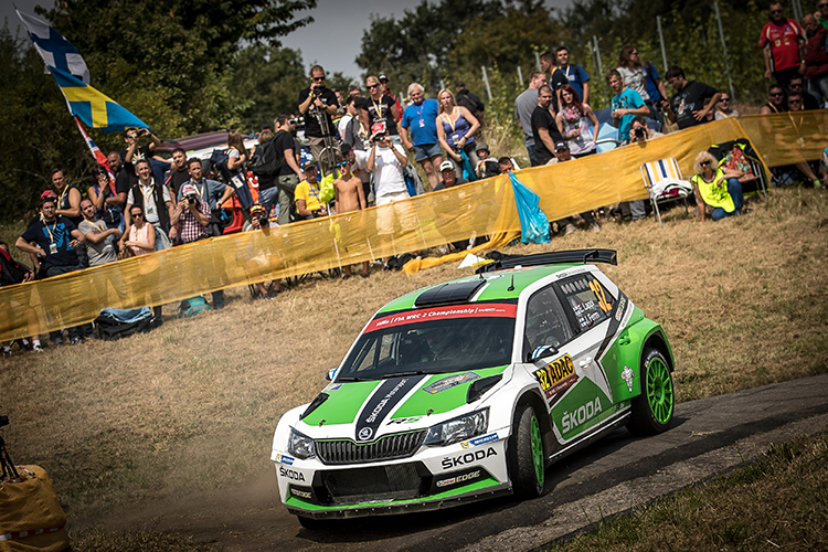Finland's Esapekka Lappi is second after Day 1 in Germany. Credit: ŠKODA Media
