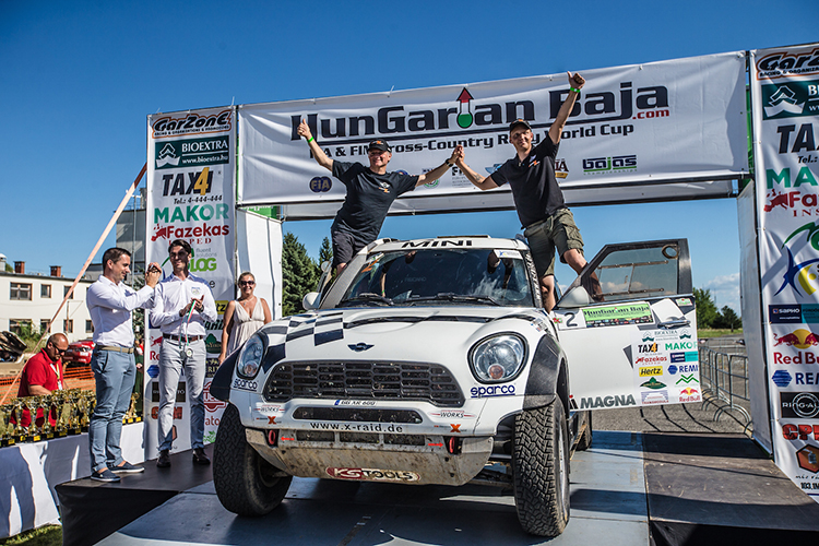 Mikko Hirvonen 2016 Hungarian Baja podium