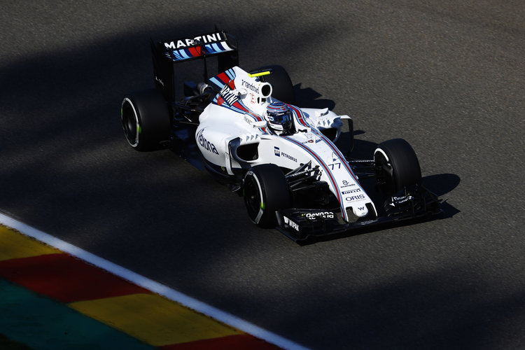 Spa-Francorchamps, Spa, Belgium.. Friday 26 August 2016. Valtteri Bottas, Williams FW38 Mercedes. Photo: Steven Tee/Williams ref: Digital Image _R3I1076. Credit: Williams Martini Racing