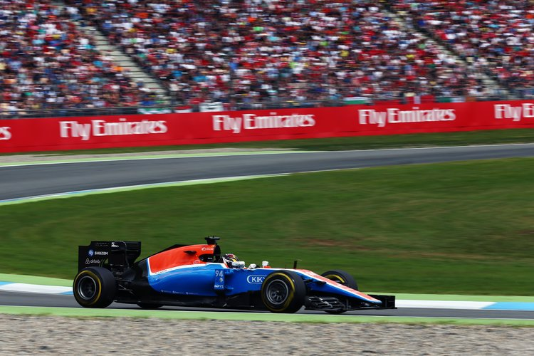 Pascal Wehrlein (GER) Manor Racing MRT05. 31.07.2016. Formula 1 World Championship, Rd 12, German Grand Prix, Hockenheim, Germany, Race Day. Credit: Manor Racing Team