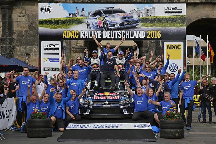 Volkswagen Motorsport 2016 Rallye Deutschland winners Ogier Ingrassia