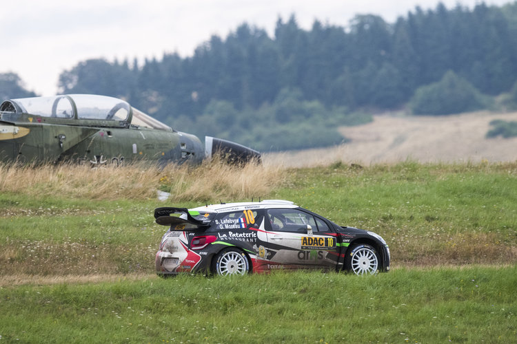 Sebastien Lefebvere (FRA)  performs during  FIA World Rally Championship 2016 Germany in Trier , Germany on August 20, 2016