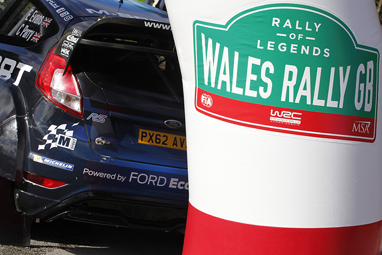 2016 Wales Rally GB close up of Ford Fiesta and start