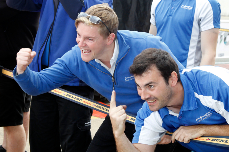 Kemp (Left) Celebrates Tregurtha's Success With The Team - Credit: Jakob Ebrey Photography