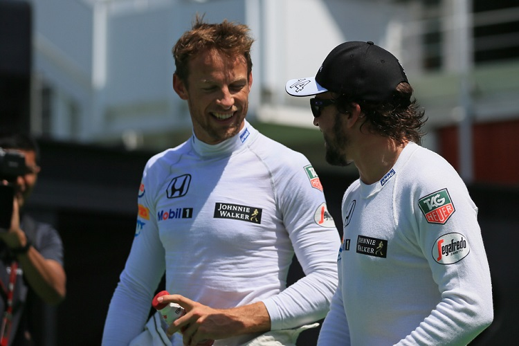 Jenson Button & Fernando Alonso - Credit: Octane Photographic Ltd