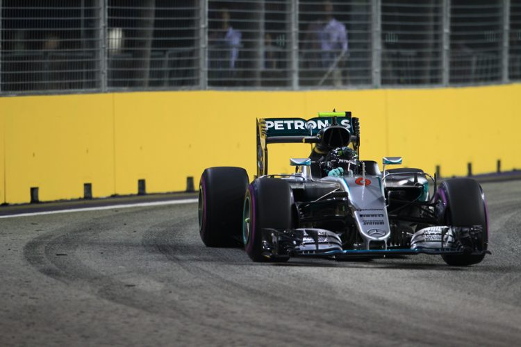 Nico Rosberg takes a dominate pole in Singapore - Credit: Octane Photographic Ltd