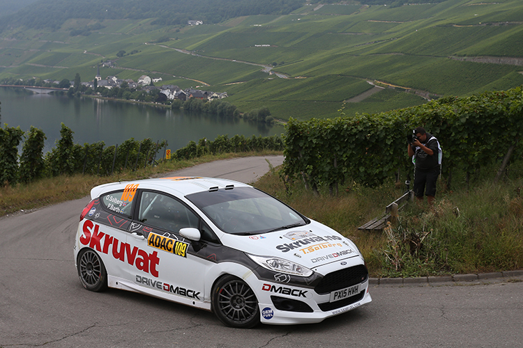 Norway's Oscar Solberg finishes fifth at the 2016 Rallye Deutschland. Credit: Drive DMACK Fiesta Trophy/@World Photography