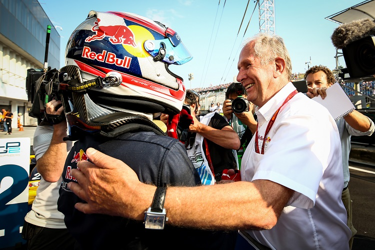 Pierre Gasly and Helmut Marko - Credit: GEPA pictures/ Dutch Photo Agency