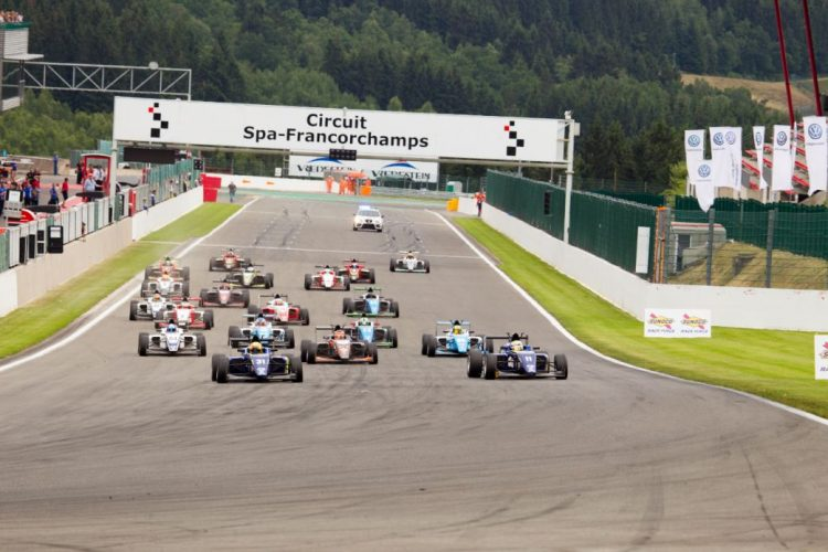 BRDC British F3 will once again return to Spa-Francorchamps in 2017. (Credit: Nick Smith/TheImageTeam.com)