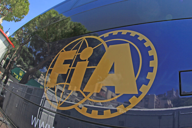 World © Octane Photographic Ltd. Monaco skyline reflected in the FIA truck logo. Wednesday 25th May 2016, F1 Monaco GP Paddock, Monaco, Monte Carlo. Digital Ref :1559CB5D5914