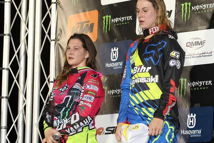 Fontanesi and Lancelot (right) have been strong rivals in WMX (Photo Credit: Kawasaki)