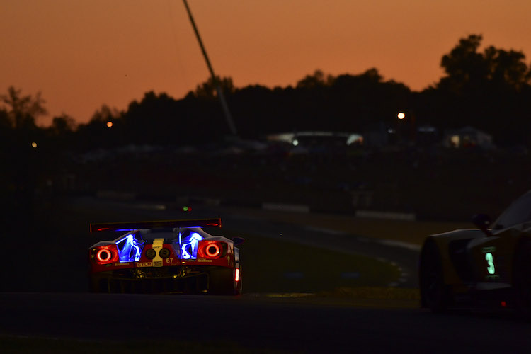 The Ford GT of Richard Westbrook had the pace around Road Atlanta (Credit: IMSA)